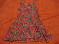 SUMMER DRESS for 6-8 year old - BEAUTIFUL - SOFT MATERIAL fully machine washable - fabulous twirl!