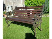 Heavy Metal End Garden Bench