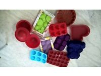 10 silicone cake moulds cake tins birthday easter valentine