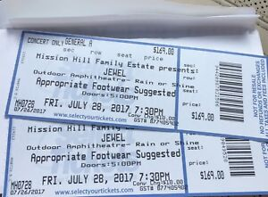 Two Tickets to Jewel at Mission Hill