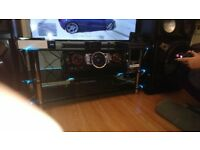 Glass TV table (Black) 120cm TV up to 65""