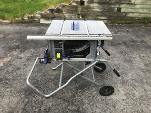 10-in 15 Amp Table Saw with Folding Stand
