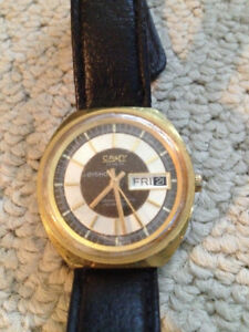 Vintage Camy gold plated mens watch