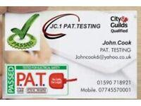 J C Pat Testing services Lymington free quotes