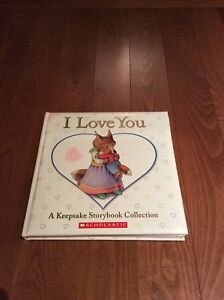 """Kids Scholastic """"I Love You"""" Keepsake Storybook Collection Book"""