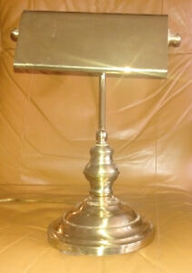 Brass Tri-Light Banker Lamps - Two