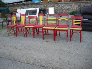 A colourful troop of chairs