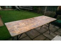 Shabby Chic Reclaimed Solid Pine Outdoor/Indoor Folding Table