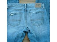 Abercrombie & Fitch ripped jeans W 34 L 32