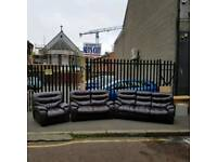 3 2 1 seater sofa in a dear grade of brown leather Hyde (all reclining ( mint mint condition )