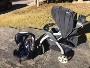 LUX infant carseat and stroller