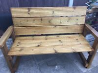 Solid park bench