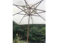 Huge garden parasol jumbo approx 3.5 metres sq