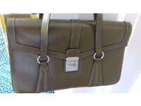 Earthy green smart handbag