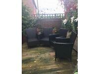 4 Outdoor Rattan Effect Armchair Dining Chair Garden Patio Furniture