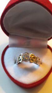Two Custom made Celtic Style Wedding and Engagement Rings