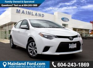 2014 Toyota Corolla LE LOCAL, NO ACCIDENTS