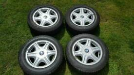 "4 x BMW 15 "" Alloys with Pirelli Tyres"