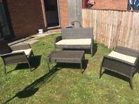4 Piece Ratten Garden Furniture Set