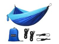 2 Person Travel / Camping Hammock - Quick Drying - Super Lightweight - Ideal for Holiday - Brand New