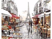 [Eiffel Tower Street View] - Acrylic paint
