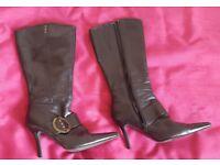 Black Barretts size 5, knee high boots
