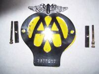 A.A. car badge circa 1961.