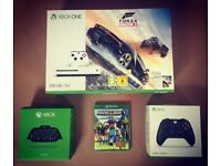 Xbox One S (500GB) with Forza Horizon 3 + Minecraft + Chatpad & Headset + 2nd Controller