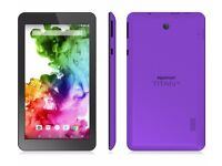 "Hipstreet Titan 4 Quad Core Android 5 Lollipop 7"" Tablet PC 8GB Bluetooth Purple HDMI USB SD Card"