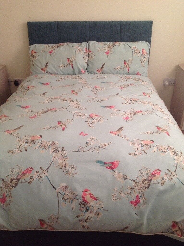 Dunelm Double Duvet Cover Pillowcases Bed Set Beautiful