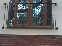 Wrought iron juliette balconies, gates, railings and general fabrication, to suit all budgets
