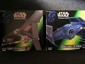 Star Wars Luke's T-16 Skyhopper and Darth Vader's Tie Fighter