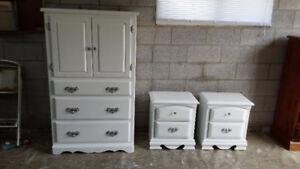 Professionally painted vintage dresser set just completed