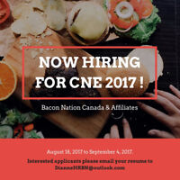 NOW HIRING FOR THE CNE! Cashiers and Assemblers needed!