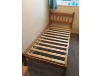 Single Bed - Solid Wood. Includes mattress.