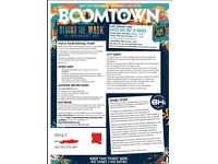 2 X Adult weekend ticket to Boomtown