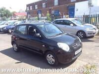 2009 (09 Reg) Kia Picanto 1.0 1 5DR Hatchback BLACK + LOW TAX