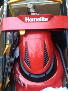 brand new never used in the box homelite 24v cordless  lawnmower