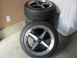 Rims and tires 15x7  set of 4