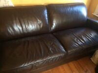 Lovely 3 seater leather sofa from sofa workshop