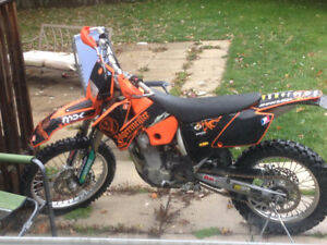 2005 ktm 450 exc with headlight and tail light