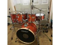 Fully Refurbished Mapex M Series 6 Piece Drum Kit (Amber Lacquer) // Free Local Delivery