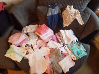 **Baby Girl Bundle - Up to 1 month clothes**