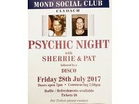 Psychic evening with sherrie and pat,details below