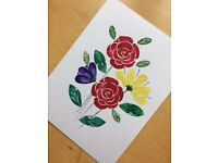 Handmade water colour postcards 3£ each