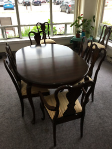 Gibbard table and eight chairs