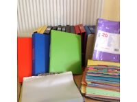 A Selection of Folders / Ring Binders / Poly Pockets / Subject Dividers