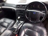 2004 54 Volvo S80 2.4 SE DIESEL saloon Hist mot 2018 LOVELY BIG BARGAIN DIESEL SALOON Blk/Blk lthr