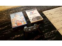 Playstation 2 Controller Plus 2 Games