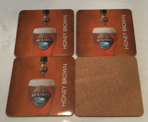 8 sous-verres Rickard's Honey Brown
